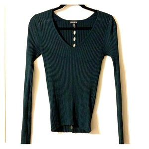 Express Long Sleeve Top with holes down back
